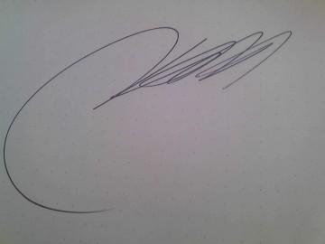 中山隊長のサイン